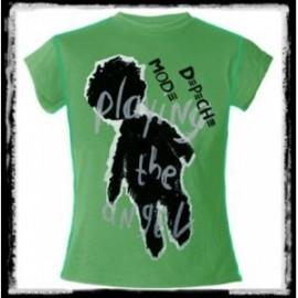 Depeche Mode - Playing The Angel (női póló, zöld, Méret: L)